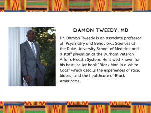 "Damon Tweedy, M.D. : Author, ""B;ack Man in a White Coat"""