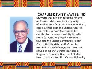 Charles Dewitt Watts, M.D. : Civil & Human Rights Advocate