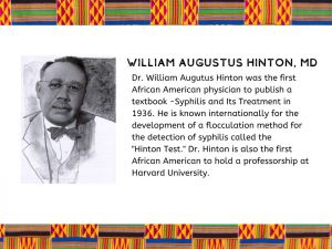 """Willian Augustus Hinton, M.D. : Father of the """"Hinton Test, First African American Professor at Harvard University"""